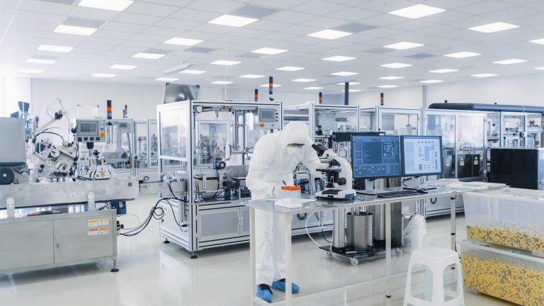 Reinraum in der Pharmaindustrie